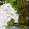 Mushroom and walnut salad