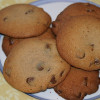 Soft baked chewy chocolate chip cookies