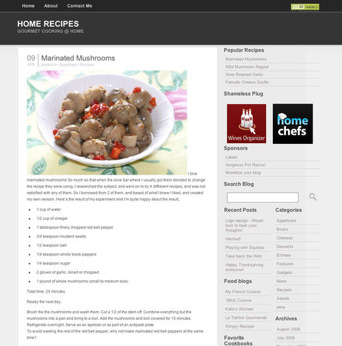 Home Recipes new look