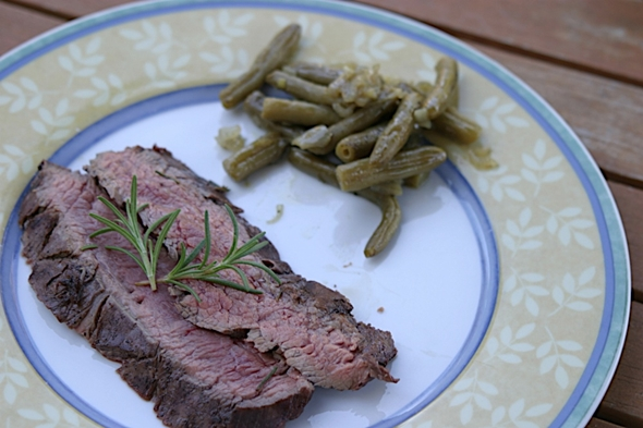 Grilled flank steak marinated in red wine and herbs | Home ...